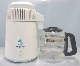 Destilator - bijeli sa bijelim poklopcem